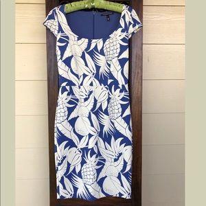 Victoria's Secret blue tropical pattern dress! Sz8